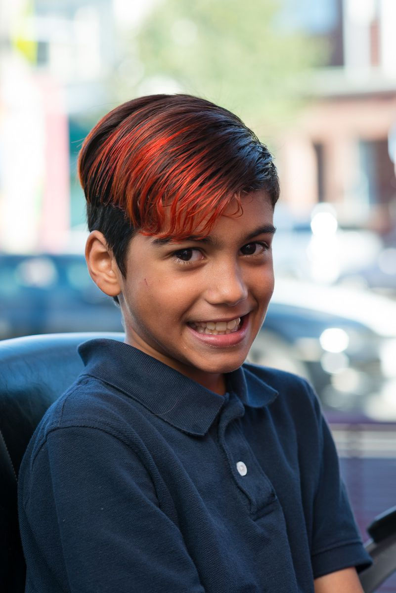 Boy with bold color