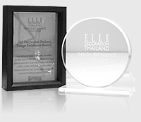Elle Decoration Design Excellence Award   The design excellence awards in the category of bathroom products was given to nahm for us for all to realize our hard work and intention to create a distinct designed product by Thai people, that also exists in the international level, for Thai and international consumers. The first award was received in 2003 for nahm's Ofuro series, designed by Khun Ou Phaholyothin. The second was in 2007 for nahm's Norm series, designed by our own designer, Euwarote Srisudh. It is still our goal to attain more international awards to assure our intention to create products with excellent designs.