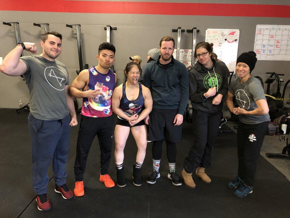 Logan, Coach Johnny, Elaine, Mike, Coach April, Thuy