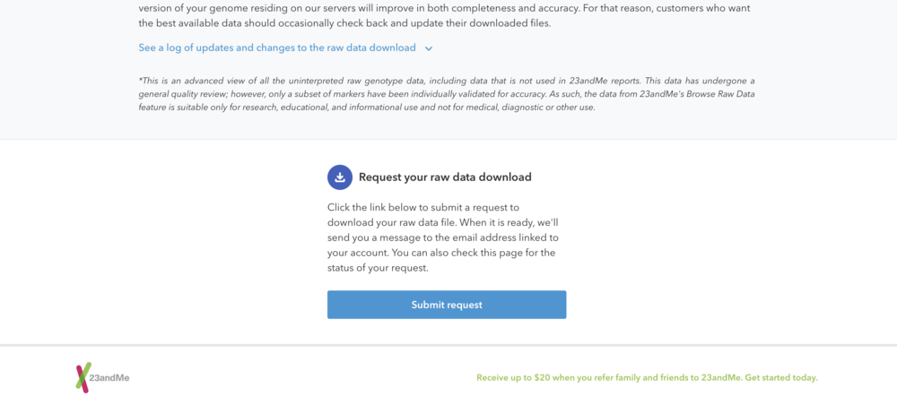 23andMe raw data download step 4