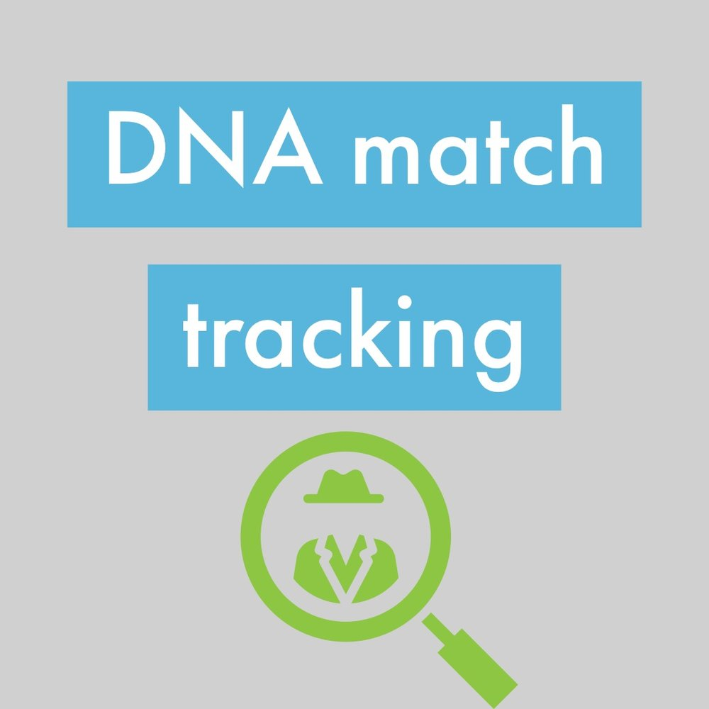 DNA matches Tracking sheet