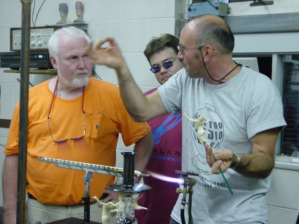 Paul Stankard and Lucio Bubacco, Penland workshop,  August 5, 2003