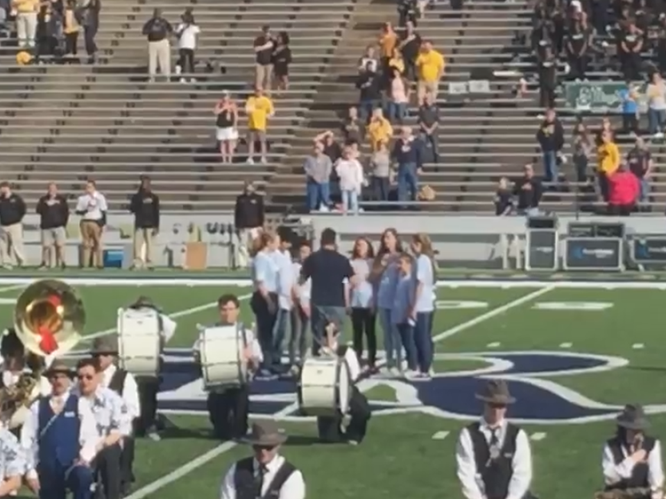 Glee Club at Rice Stadium