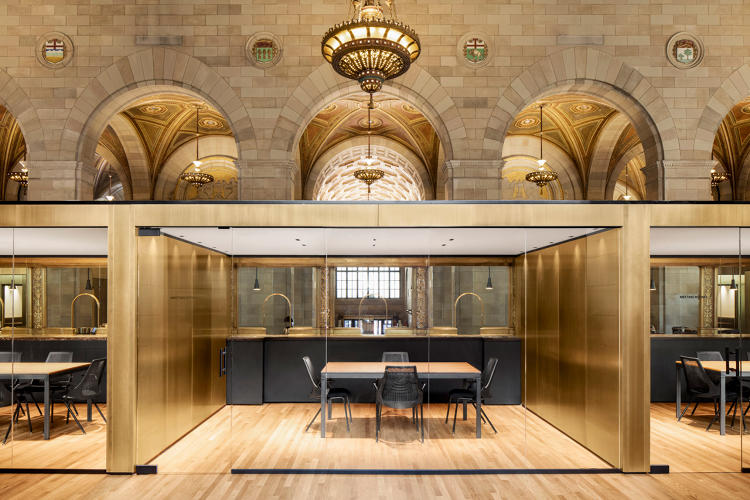 Previously the Royal Bank of Canada's Montreal Headquarters, now a coworking space