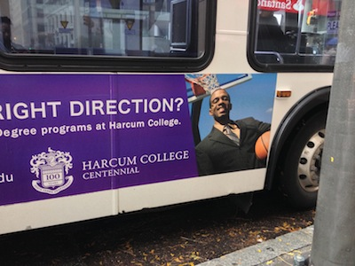 The story has legs! Read the Inside Higher Ed article on this Harcum College ad & see my Storify here.