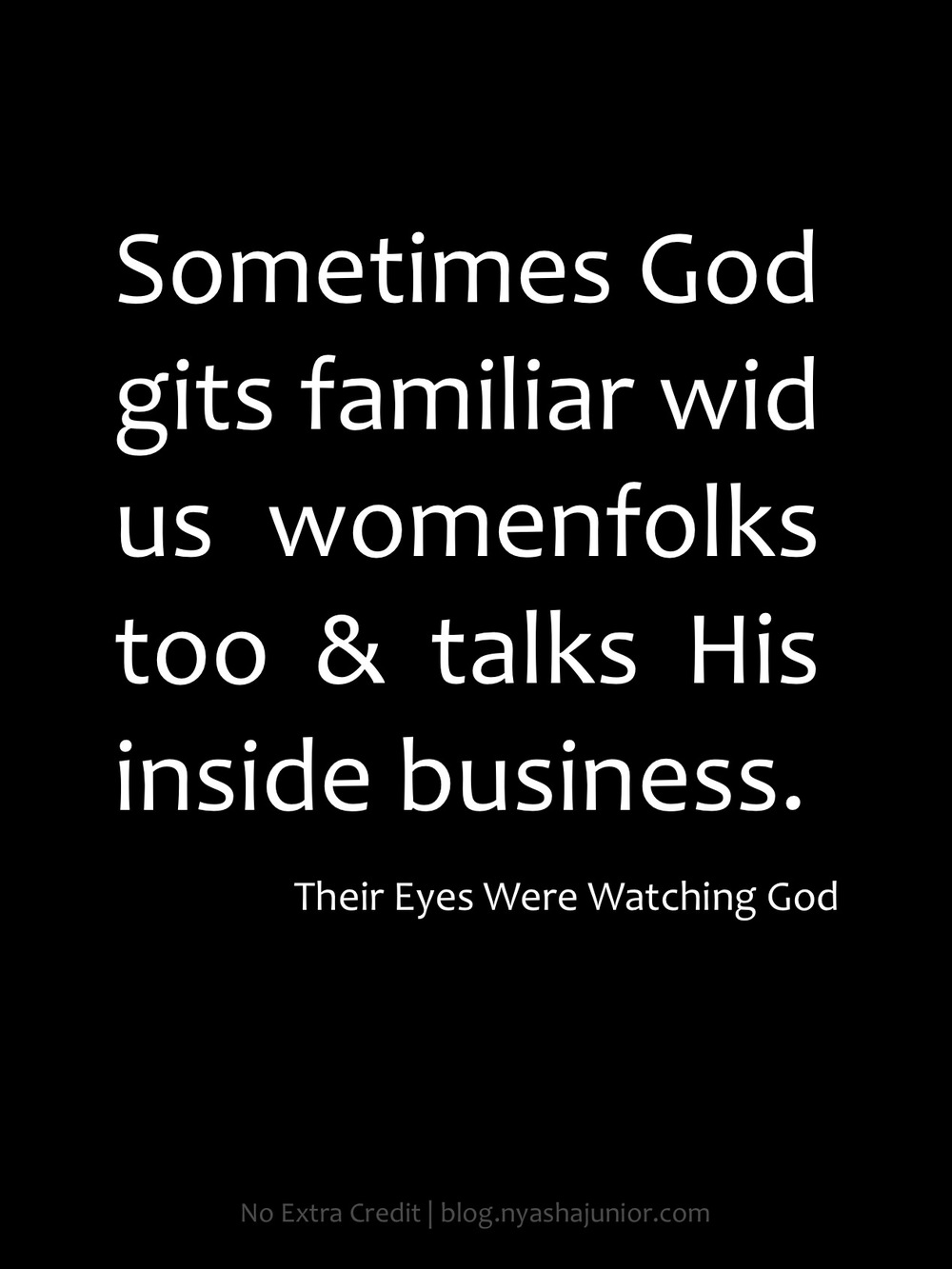 Janie in Zora Neale Hurston's  Their Eyes Were Watching God  (p. 70)