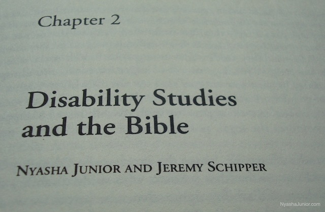 "Check out my article ""Disability Studies and the Bible"" (co-authored with Jeremy Schipper) in  New Meanings for Ancient Texts !"
