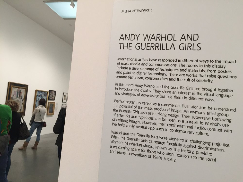 ANDY WARHOL AND THE GUERRILLA GIRLS