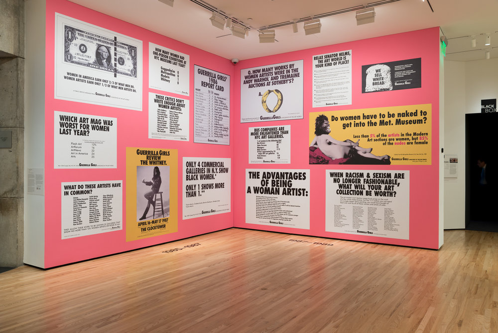 Guerrilla Girls, Baltimore Art Museum, 2016-17