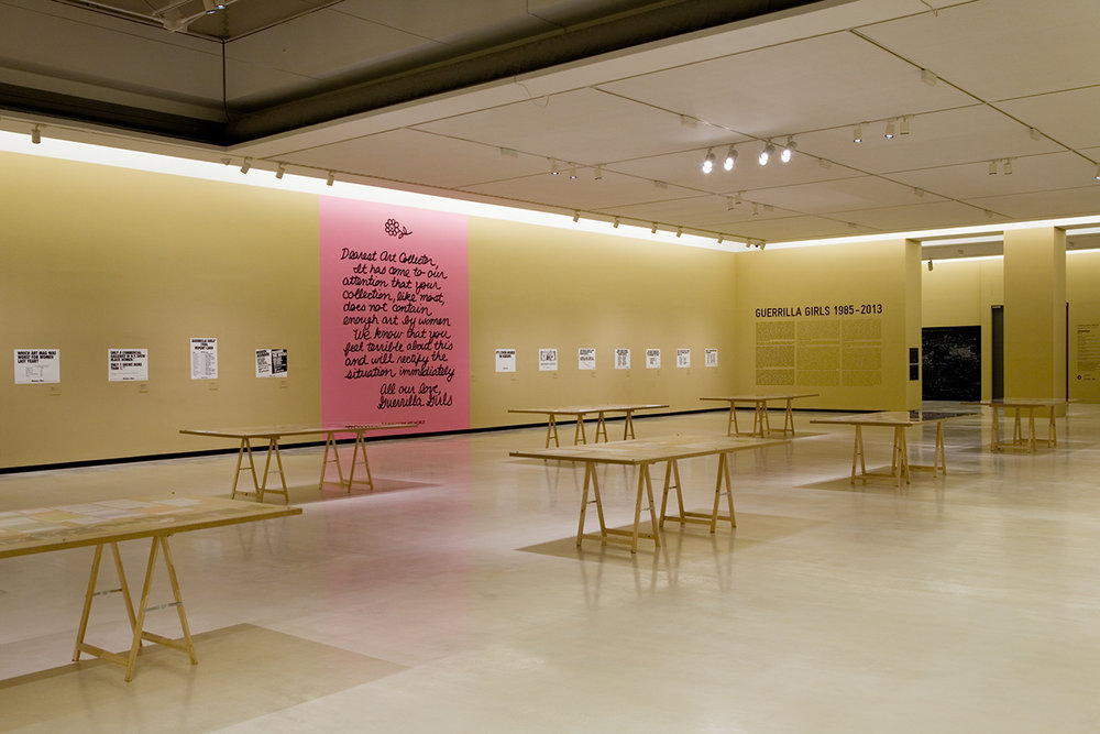 """Guerrilla Girls 1985-2013,"" Alhóndiga Bilbao, Spain, 2014"