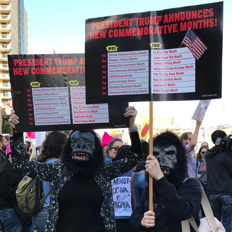 Women's March, Los Angeles, 2017