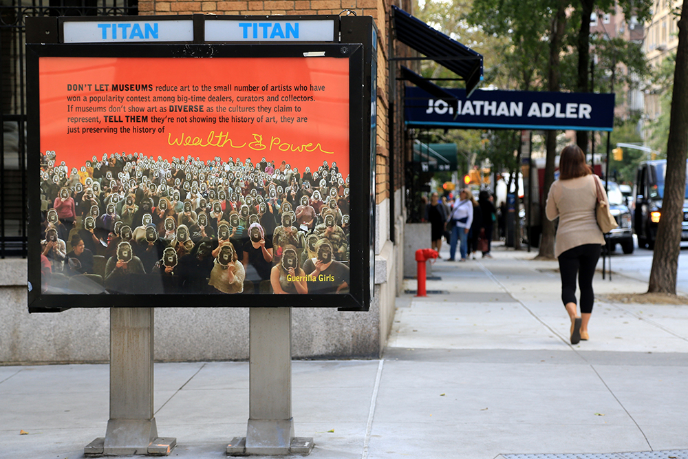 Guerrilla Girls X Art in Ad Spaces, NY