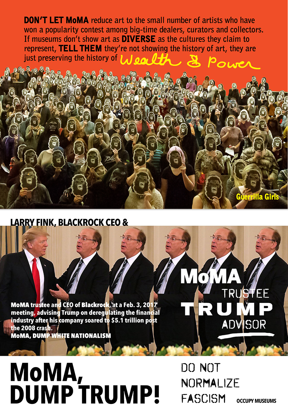 GUERRILLA GIRLS AND OCCUPY MUSEUMS, MOMA
