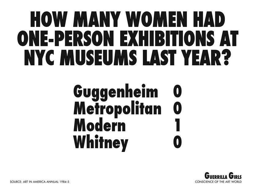 HOW MANY WOMEN HAD ONE-PERSON EXHIBITIONS AT NYC MUSEUMS LAST YEAR?