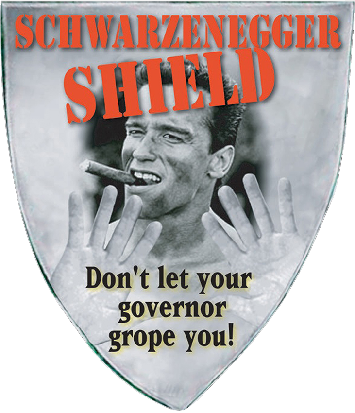 THE SCHWARZENEGGER SHIELD