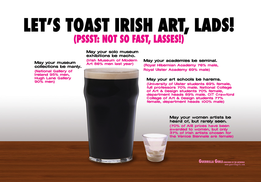 LET'S TOAST IRISH ART, LADS!