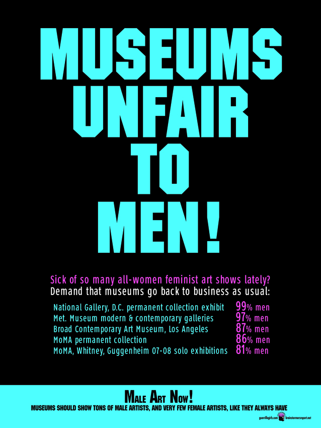 MUSEUMS UNFAIR TO MEN!