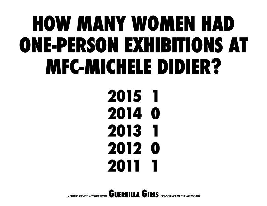 HOW MANY WOMEN HAD ONE-PERSON EXHIBITIONS AT MFC-MICHELE DIDIER?