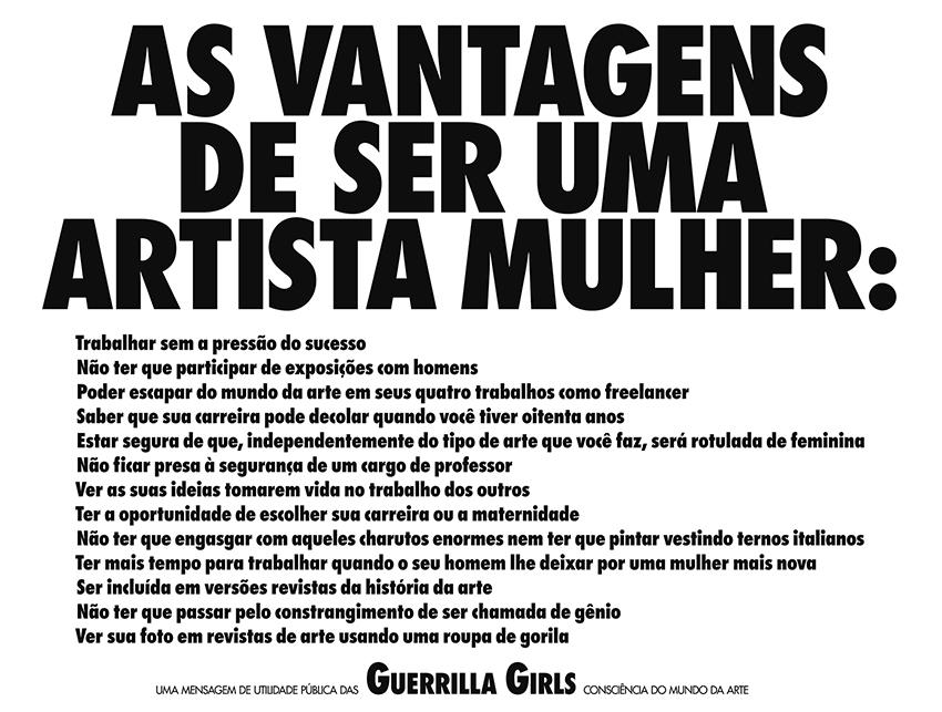 AS VANTAGENS DE SER UMA ARTISTA MULHER