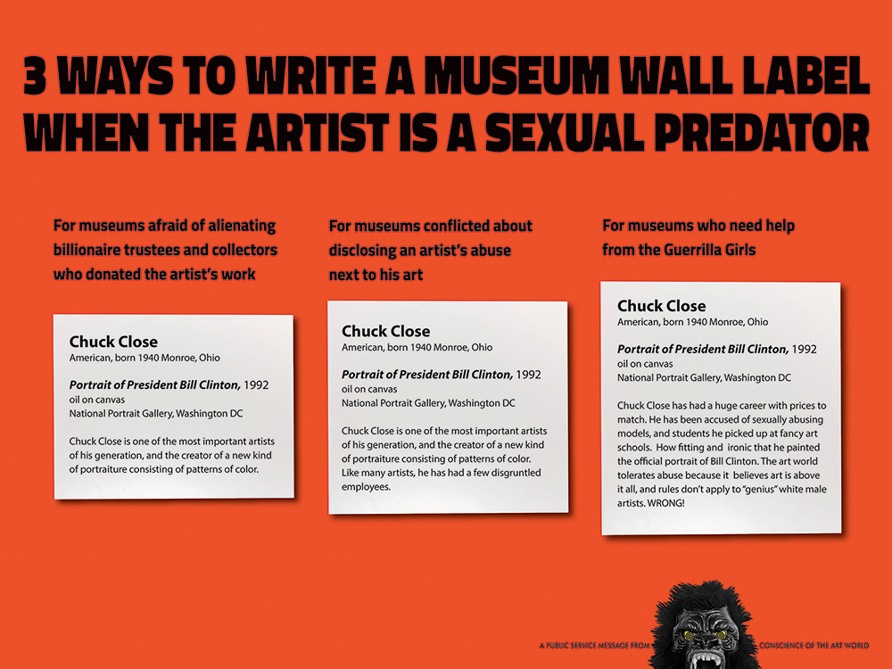 3 WAYS TO WRITE A MUSEUM WALL LABEL WHEN THE ARTIST IS A SEXUAL PREDATOR