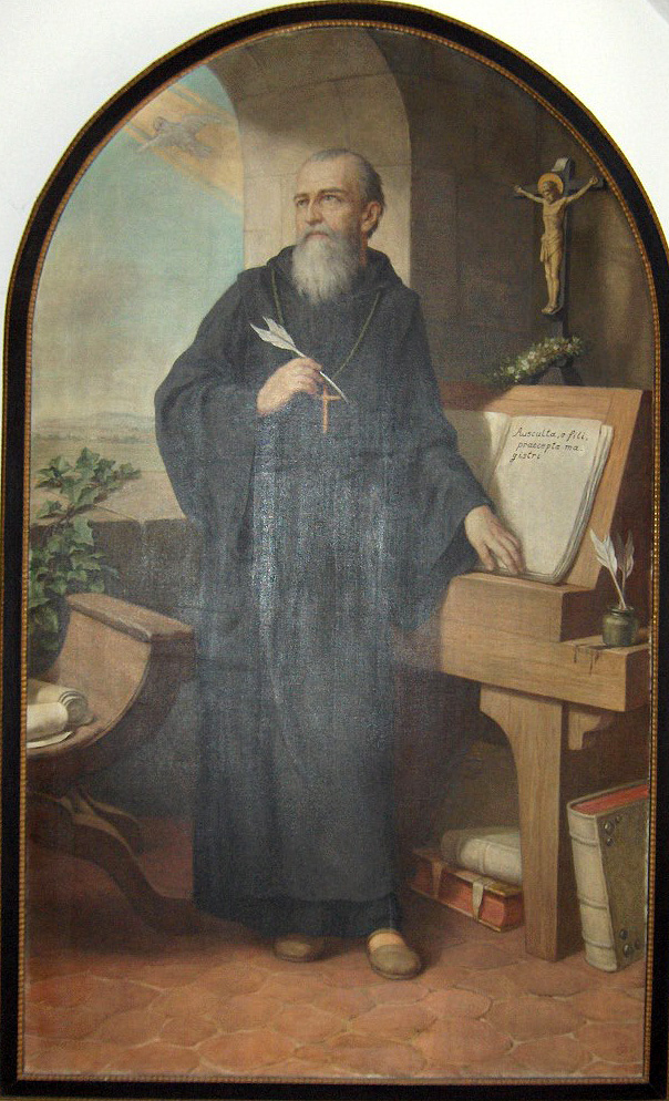St. Benedict, painting  by Hermann Nigg (1849–1928).