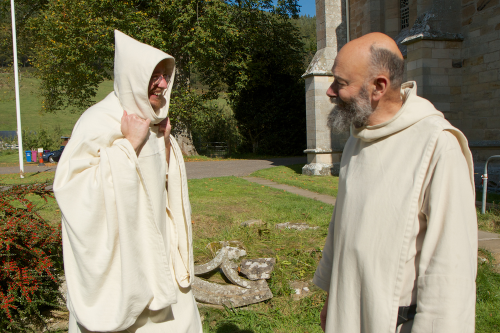 White-habited Benedictine monks of Pluscarden