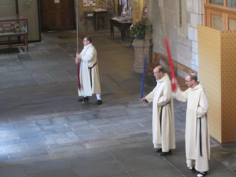 L-R, Fr. Martin, Br. Joseph, Br. Matthew