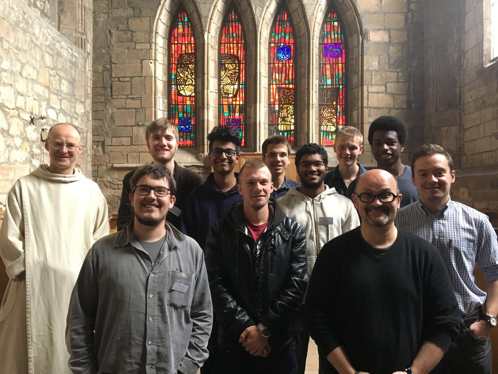 Participants at Pluscarden Abbey's Monastic Experience Weekend 2016