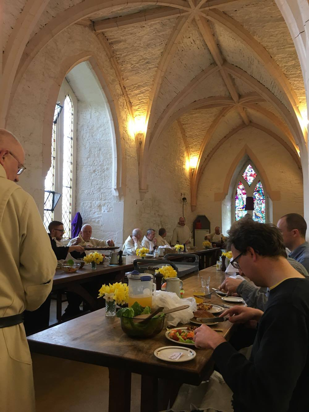 The Agape supper on Holy Thursday evening