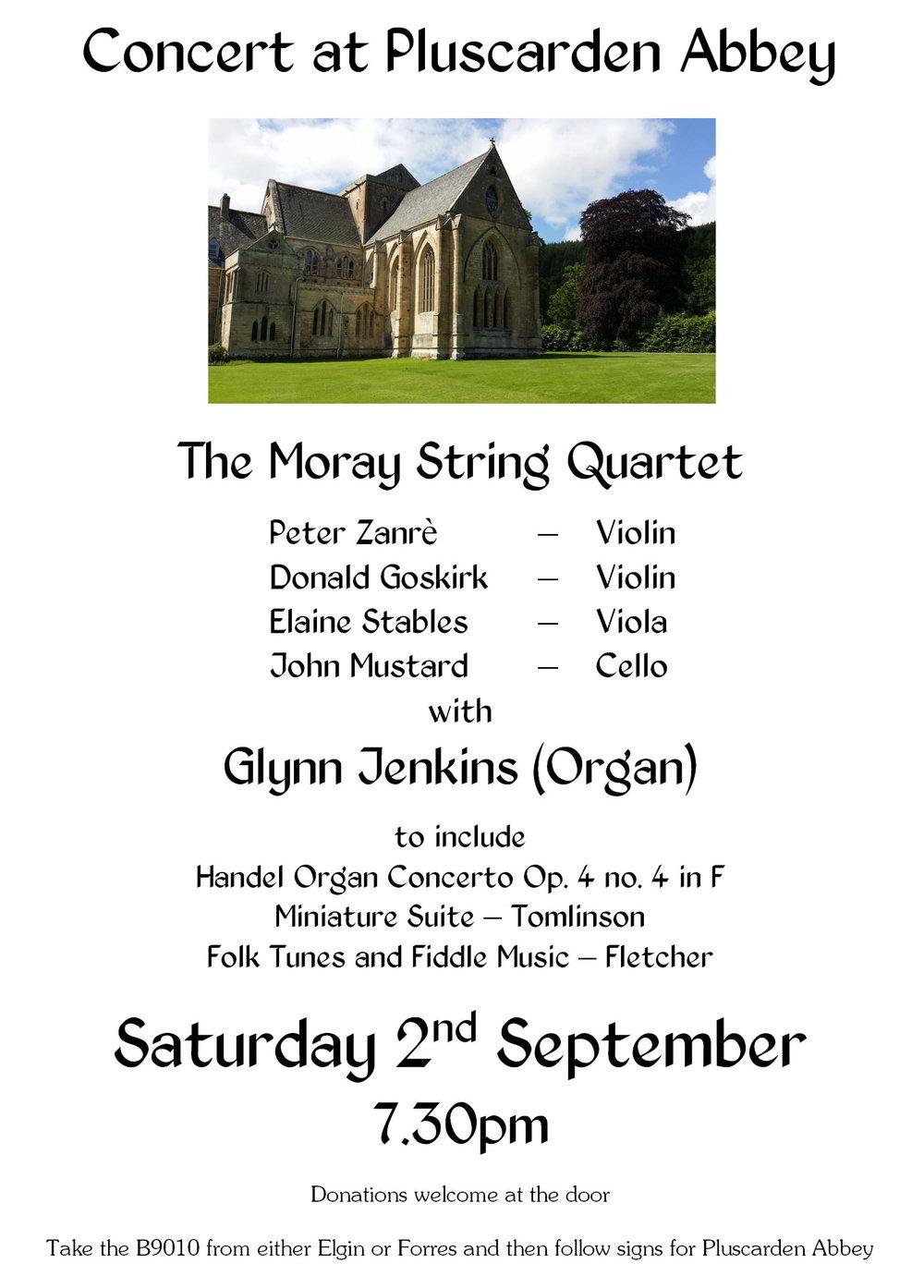 Moray String Quartet at Pluscarden Abbey 2017