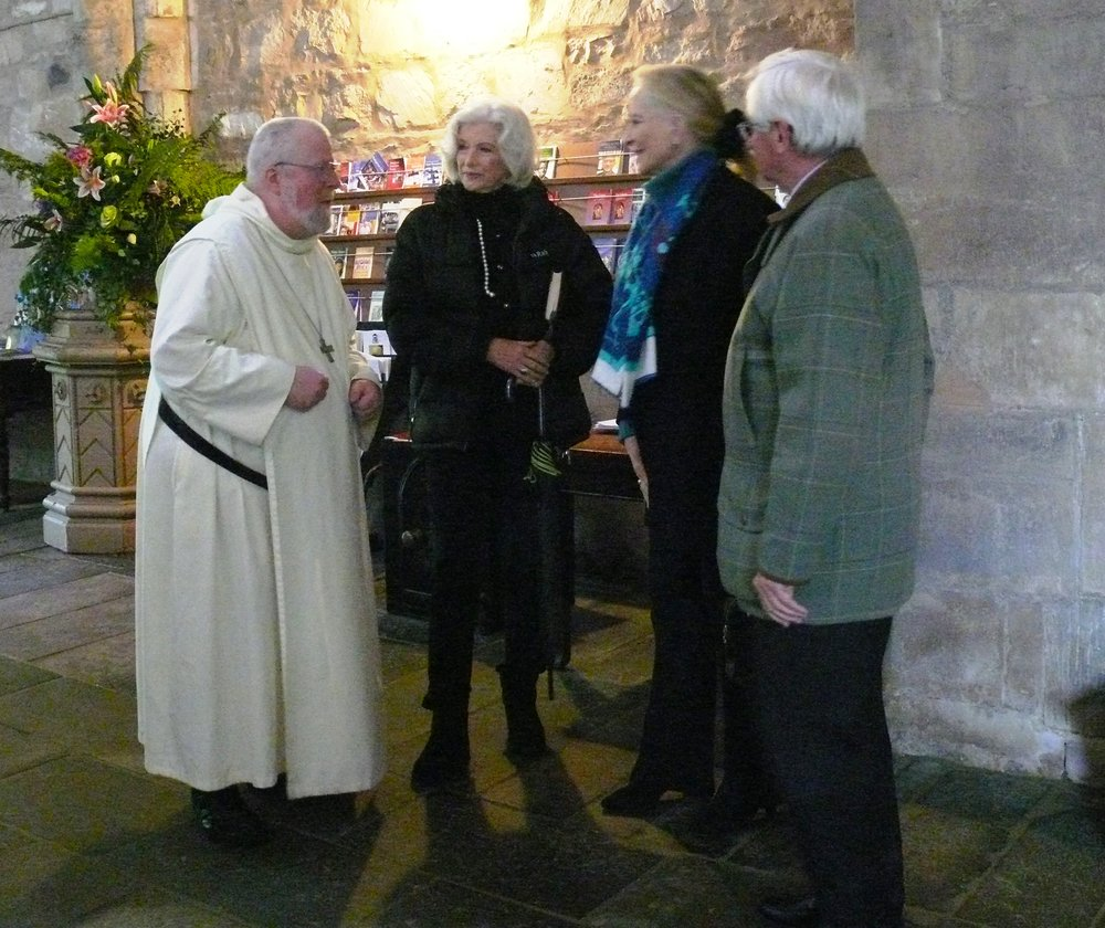 Fr. Abbot, Angelika Countess Cawdor, the Princess, Grenville Johnston, Lord Lieutenant of Moray and Appeal Chairman
