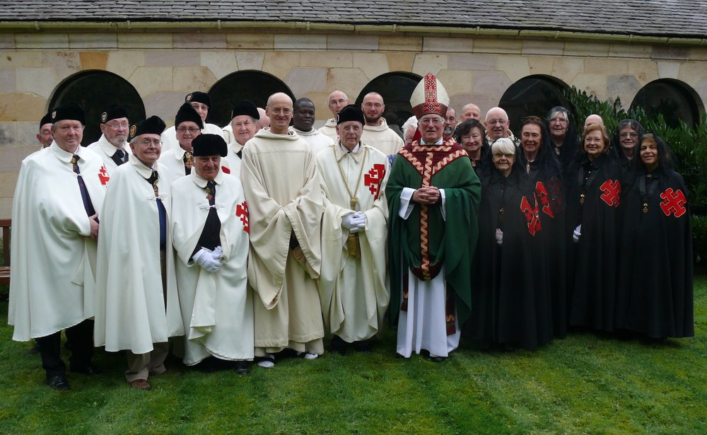 Archbishop Mario Conti with pilgrims of the Scottish Lieutenancy of the Knights and Dames of the Holy Sepulchre