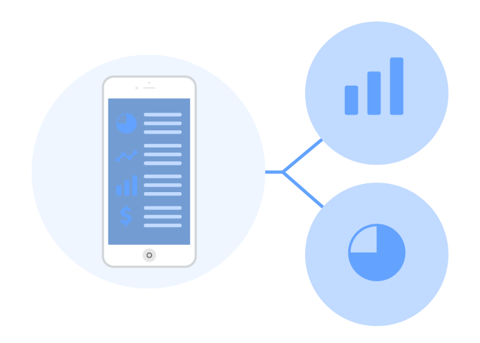 Graphic representing an iPhone with Wise Systems delivery analytics software