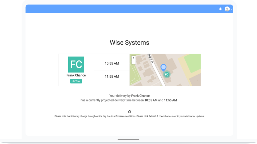 Customer Portal | Wise Systems
