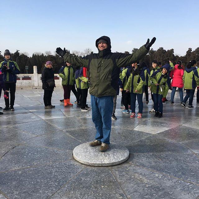 Mogotani founder Jason Drew standing on the mound stone so his voice would be closest to heaven. #makehappy #mogotani