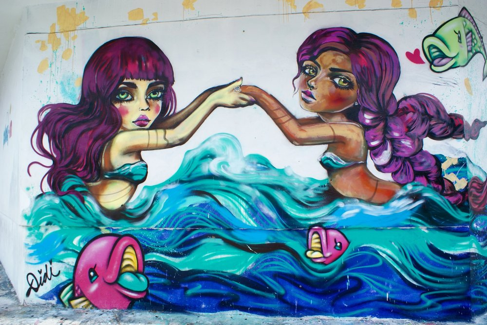 I love these mermaids found in the Wynnwood neighborhood of Miami.