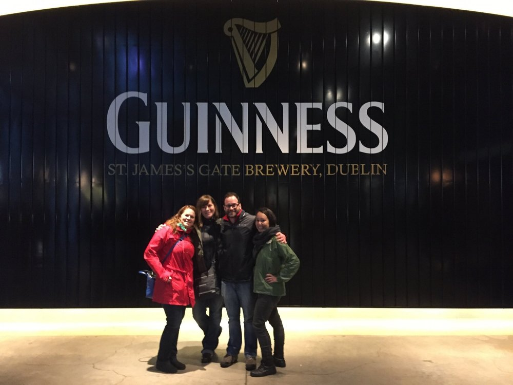 First stop in Dublin, the Guinness brewery.  It was the first of may brewery tours, those Irish really understand how to make a good beer.