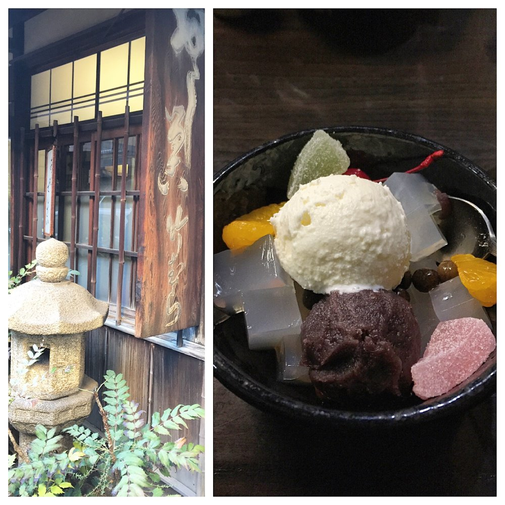 On this trip, I was obsessed with finding old school Japanese snack shops, which led us on a treasure hunt through the side streets of Tokyo.  This place is called  Takemura  and it has been around since the 1930s, they specialize in ice cream sweets like the anmitsu pictured above.  Super yummy!