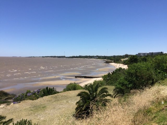 Colonia sits on the Rio de la Plata, an hour via ferry from Buenos Aires. The beaches are perfectly lovely, with lots of shade for napping.