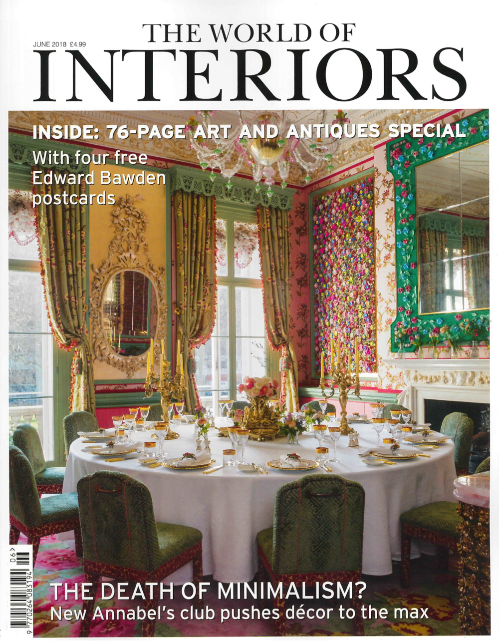 THE WORLD OF INTERIORS MAGAZINE JUNE 2018
