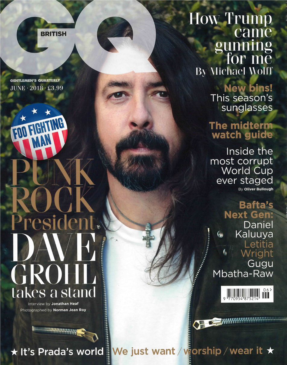 BRITISH GQ MAGAZINE JUNE 2018