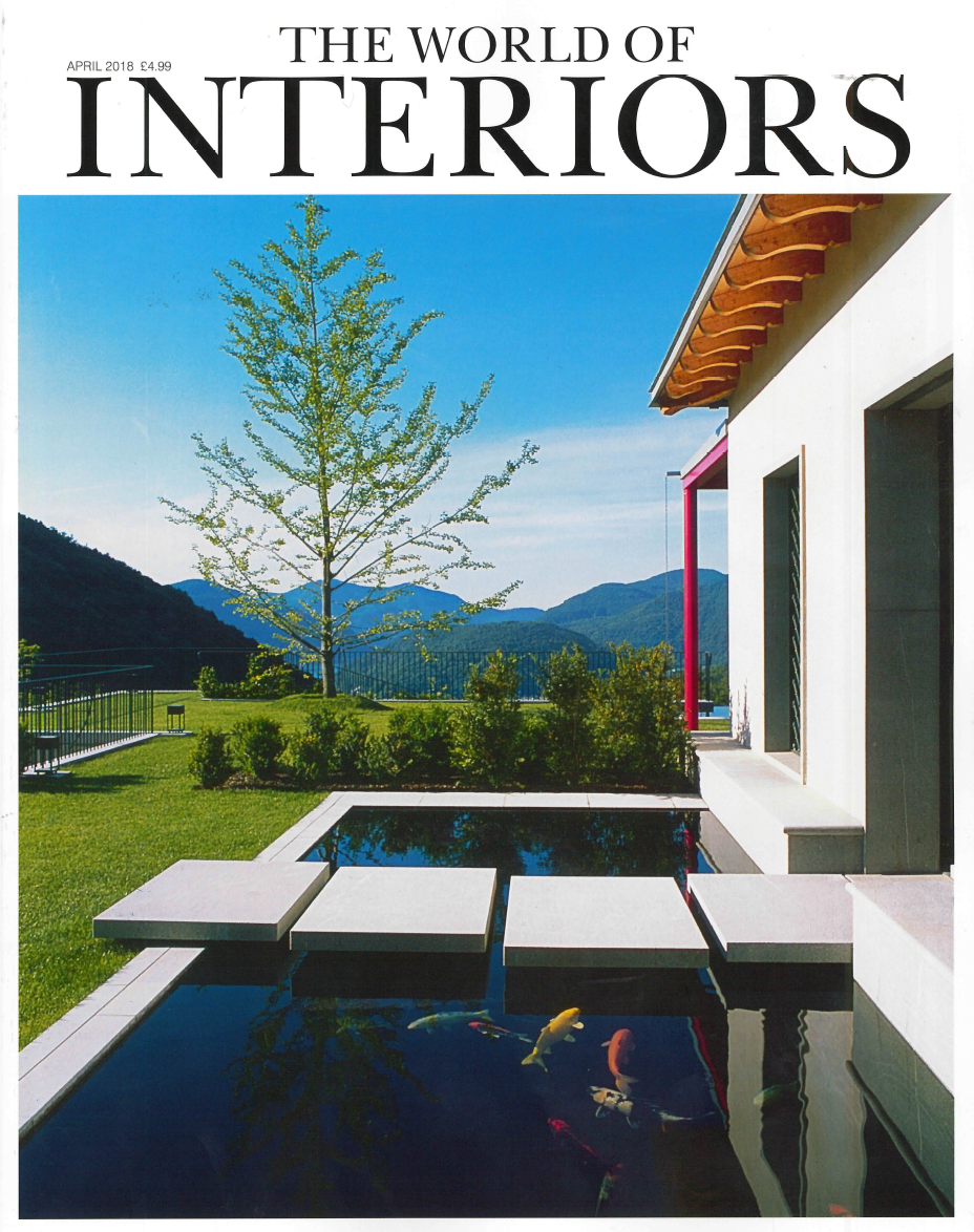 THE WORLD OF INTERIORS MAGAZINE APRIL 2018