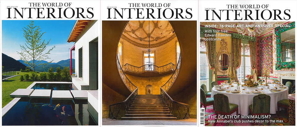 THE WORLD OF INTERIORS MAGAZINE (SPRING ISSUES 2018)