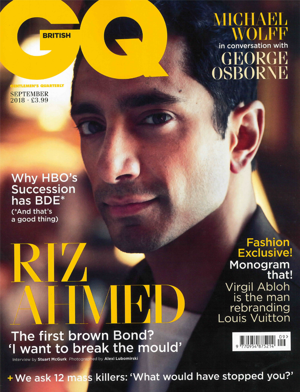 BRITISH GQ MAGAZINE SEPTEMBER 2018