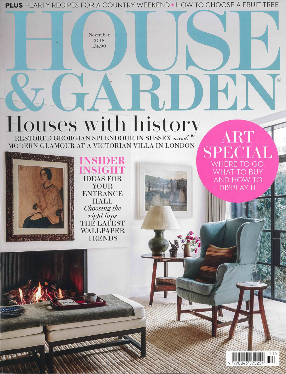HOUSE & GARDEN UK MAGAZINE NOVEMBER 2018