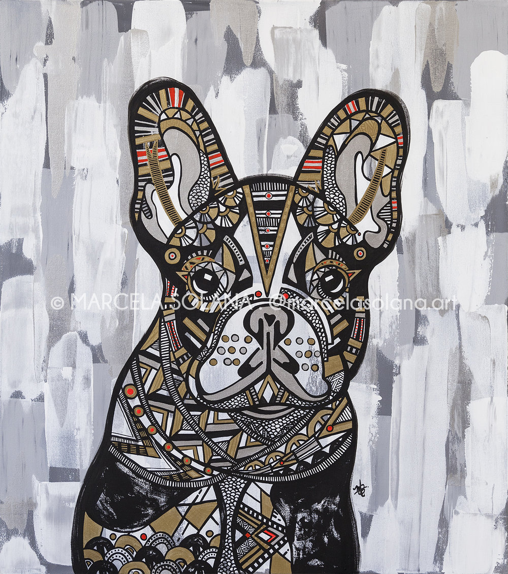 FRENCH BULDOG . 2018 . 130x115cm / 51x45in