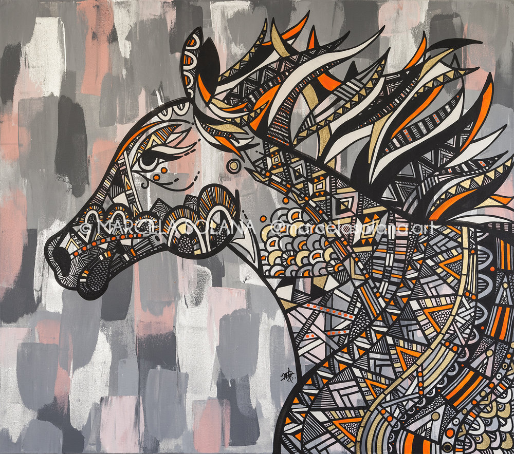 STALLION . 2018 . 130x115cm / 51x45in