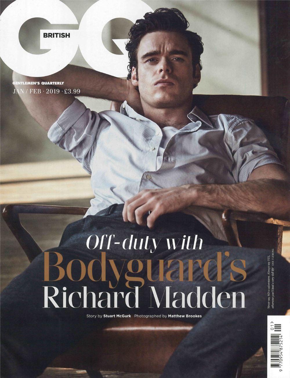 BRITISH GQ MAGAZINE JAN/FEB 2019