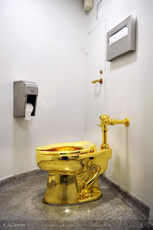 24k gold toilet paper. kac photo 160919 guggenheim cattelan america 24k gold toilet  Sitting on America KAC Photo Blog