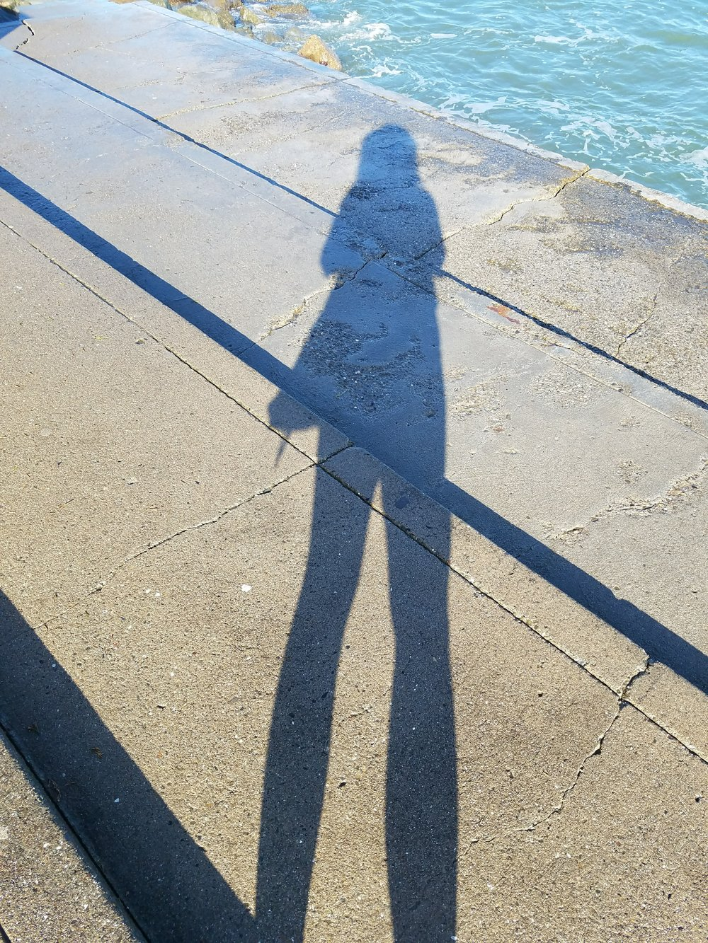 Just me and my shadow walking the line...